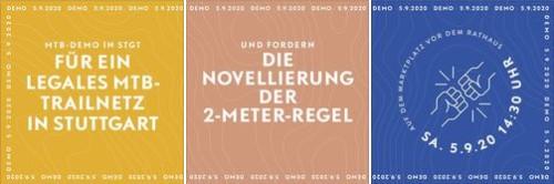 Bild zur News MTB-Demo für legale Trails in Stuttgart